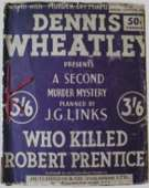 (50th reprint blue cover for Who Killed Robert Prentice?)