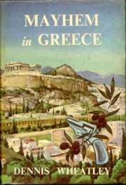 (1962 Book Club wrapper for Mayhem In Greece)