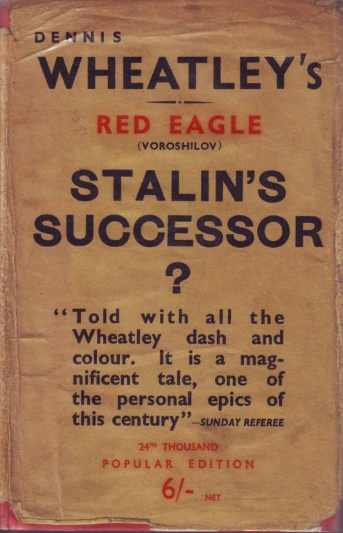 (1938 reprint cover for Red Eagle)