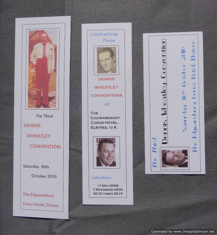Paper bookmarks created by Steve Whatley