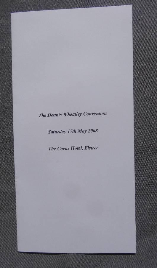 Programme for the first Convention